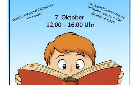Bücherflohmarkt 7. Oktober 2017